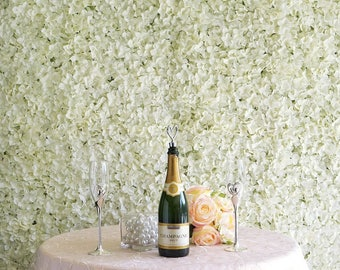 4 Ivory Flower Wall Cream Hydrangeas Artificial Flower Panels Wedding Decorations Fake Flower Greenery Flower Square White Sale Wholesale