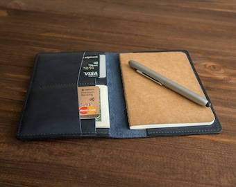 Personalized leather field notes cover field notes wallet personalized leather journal cover notebook cover pocket journal cover.