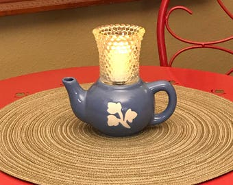Mini Blue Candleholder