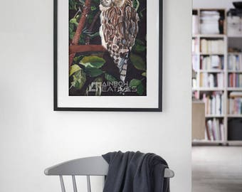 Owl Painting Print