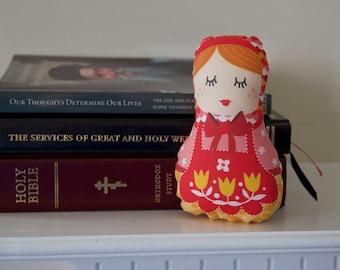 Babushka Plush Doll