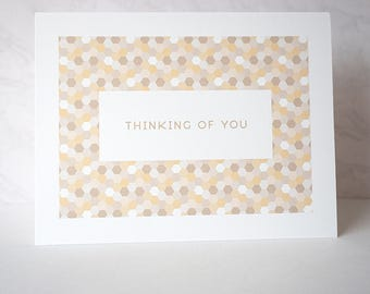 Thinking of You Retro-Inspired Greeting Card - Hex Series