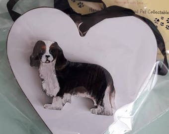 Cavalier KIng Charles Spaniel Heart/ Decoration/Pet Memorial