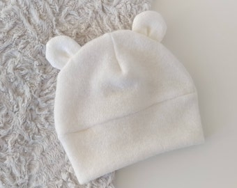 Baby Hat With Ears - Baby Bear Hat - Hat For Baby - Baby Winter Hat - Baby girl Hat - Baby boy hat - Baby Shower Gift
