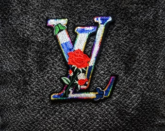 LV brand sequin patch