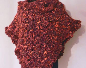 Red Wool Poncho
