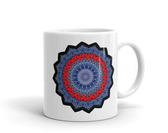 Hearts Mug, Kaleidoscope Hearts, Chakra Mug