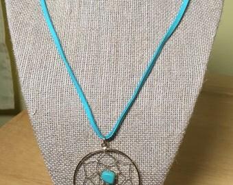 Turquoise Dreamcatcher Pendant Necklace