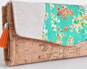 Necessary Clutch Wallet, Wristlet, Gifts for Her, Floral
