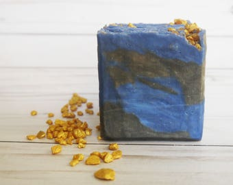 Classic Man - Men's Soap - Masculine Valentines Day Palm Free Bar Soap - Gold, Blue, Black present -  - Gift for Him - Artisan soap bar