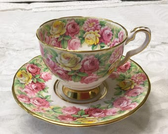 "Royal Stafford ""Rosanne"" Tea Cup and Saucer"