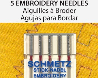 Schmetz Embroidery Sewing Machine Needles Size 75