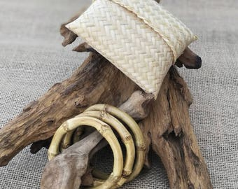 Bamboo Bracelets with Bags