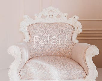 Wedding background, armchair background, digital backdrop, creamy backdrop, pastel background, dreamy backdrop, interior background, vintage
