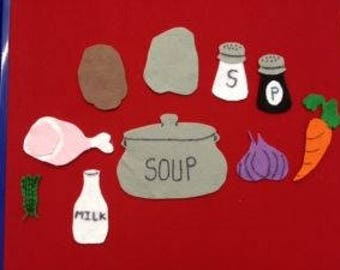 Stone Soup Felt Board for Library Storytimes