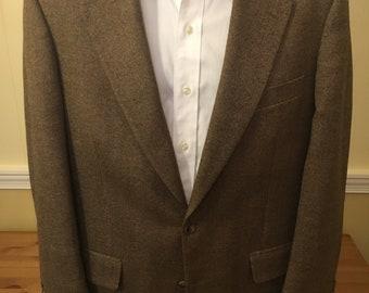 Brooks Brothers Brown Birdseye Blazer Jacket Sport Coat 40 R Mens Wool