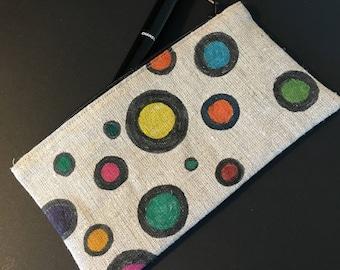 Clutch or cosmetic bag.