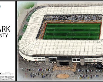 Pride Park Stadia Fine Art Jigsaw Puzzle - Derby County Football Club