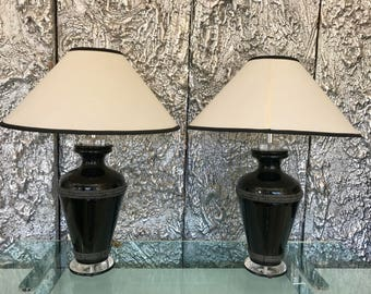 Pair Of Signed Van Teal lamps