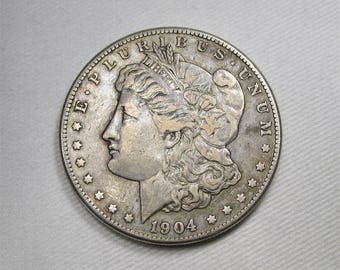 1904 S Morgan Dollar Choice Very Fine Coin