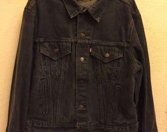 Levis Strauss Vintage Denim Jean Jacket Dark Wash Grey 70506-0259 MenSize 46R