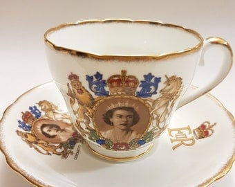 Collectible Adderley Fine Bone China Cup With Saucer