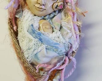 Nature Spirit, Art doll, Kitchen Witch, Rustic Home Décor, Prosperity Art Doll, OOAK Art Doll, Ethnic art, Handcrafted art doll, Wall decor