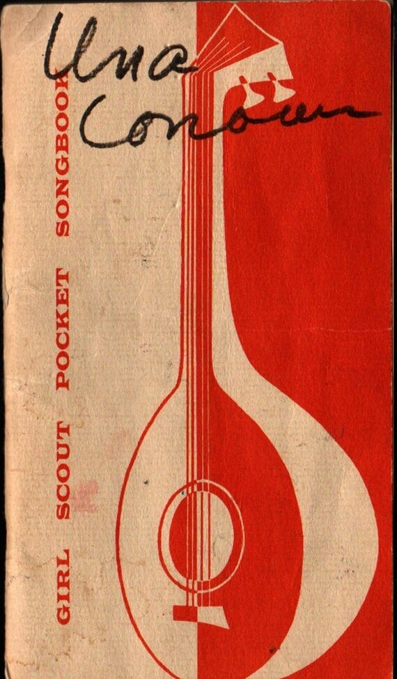 Girl Scout Pocket Songbook - 1956 - Vintage Sheet Music Book