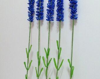 Beaded Flowers French Beaded Lavender
