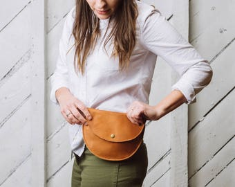 Fanny Pack, Leather, Bum Bag, Waist Bag- The Ester Fanny Pack in Tan