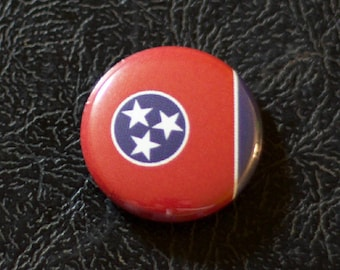 "1"" Tennessee flag button, state, pin, badge, pinback"