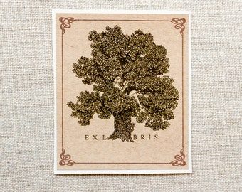 Girl in Tree Bookplates - Tree Bookplate stickers - ex libris - gift for young readers - gift for her- book labels - book plates - bookworm