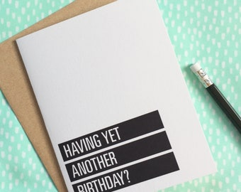 funny birthday card. swearing birthday card. shit you're old. NSFW birthday card for adults, friend, coworker. offensive rude humorous