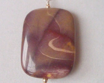 Mookite Jasper and sterling pendant