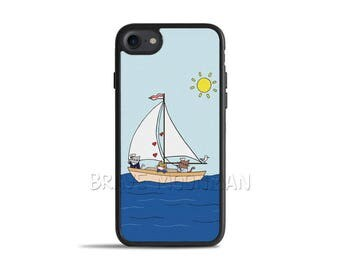 Cat iPhone 7 Case Cute iPhone 7 Case Cute Cat iPhone 6s Case Nautical Cat Galaxy S7 Case Sailor Cat Phone Case Cat iPhone 8