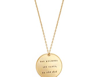 large medallion inspired necklace | CORE MESSAGES