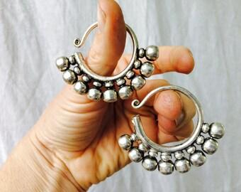 Miao Silver Tribal Earrings Gauged Earrings Ear Weights