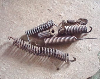 Rusty Metal Grungy Springs Found Objects - Recycled Bits  for Assemblage, Altered Art , Sculpture - Industrial Salvage