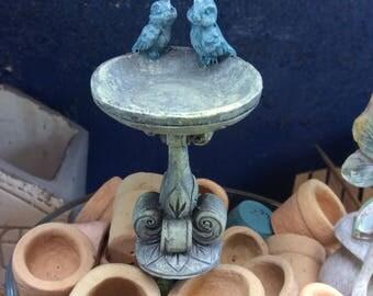 Bluebird Birdbath miniature