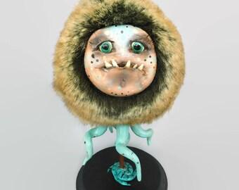 Tentapuff - OOAK Sculpture - Fantasy Monster Figurine - Fantasy Art - Cute Monster Figurine - Art Doll - Artdoll - Original Art - Tentacles