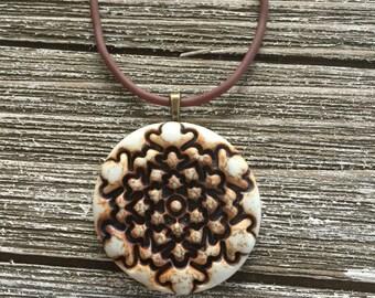 Pinecone Porcelain Pendant