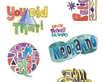 Sticker sheet for Teachers
