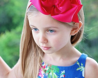 Jumbo hair bows, Large hair bows, pink headband, hair bows for girls, unique headbands, little girl headbands, extra large hair bow boutique