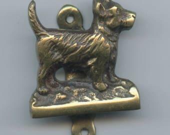 Brass Dog Door Knocker Small Old Door Ornament