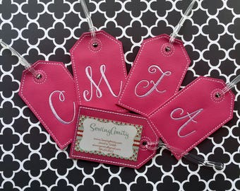 Custom luggage tag - Initial Luggage tag - Monogram luggage tag - personalized luggage tag - groomsman gift - bridesmaid gift - travel gift