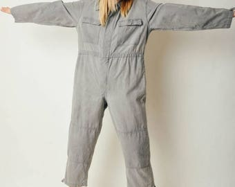 ON SALE Vintage Gray Work Wear Jumpsuit