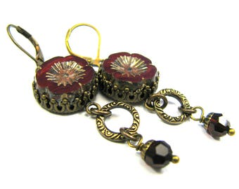 "Bohemian Inspired Czech Glass Collection - ""Vivienne"" Earrings"