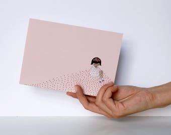 """Crying Frida - Greeting Card - Frida Kahlo - 5x7"""" - stationery"""