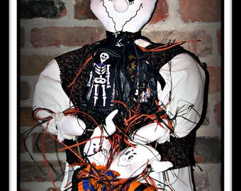 Scarier Per Pound David Halloween Ghost Doll E-Pattern