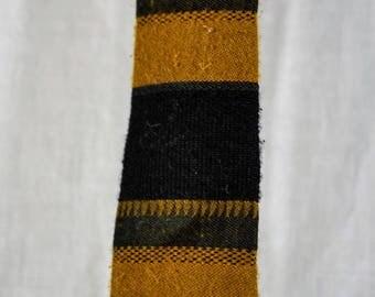 Vintage 1960s Men's Tie in Gold and Black by teetera for Stix Baer Fuller